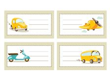 Back to school stickers with vehicles Royalty Free Stock Photos