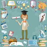 Back to school student education school subjects Royalty Free Stock Images