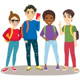 Back To School Students vector illustration