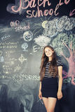 Back to school after summer vacations, cute teen Royalty Free Stock Images