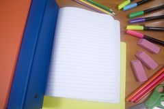 Back to School Supplies Royalty Free Stock Image