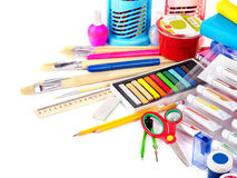Back to school supplies. Isolated Stock Image