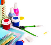 Back to school supplies. Royalty Free Stock Photography