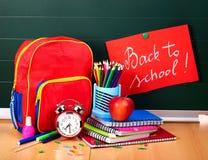 Back to school supplies. stock photos