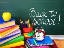 Back to school supplies. Royalty Free Stock Images