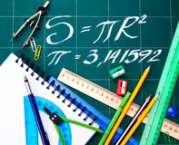 Back to school supplies. Royalty Free Stock Photos