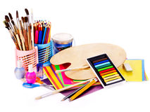 Back to school supplies. Isolated Stock Photo