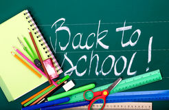 Back to school supplies. Royalty Free Stock Image