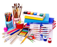 Back to school supplies. Stock Images