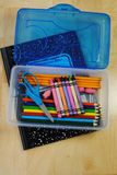 Back to school supplies. Supplies for going back to school Stock Photography