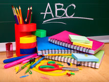 Back to school supplies. Royalty Free Stock Photo