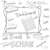 Back to School Supplies. Illustrated abstract Back to School Supplies Stock Images