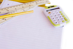 Back to School Supplies. With Copy Space Stock Photography