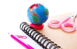 Back to school supplies with accessories.  Back to school concep Stock Images