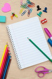Back to school supplies with accessories Stock Images