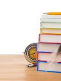 Back to school supplies and books Stock Photo