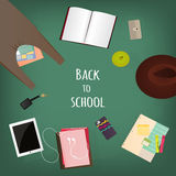Back to school supplies. Stock Photos