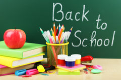 Back to school supplies, close up Stock Image