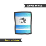 Back to School Supplies, hand drawn icon Stock Photography