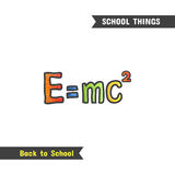 Back to School Supplies,  hand drawn icon Royalty Free Stock Photography