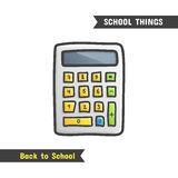 Back to School Supplies,  hand drawn icon Royalty Free Stock Image