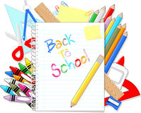 Back to school supplies items Royalty Free Stock Photo