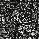 Back to School Supplies Sketchy chalkboard. Royalty Free Stock Photography
