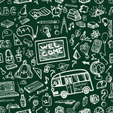 Back to School Supplies Sketchy chalkboard. Royalty Free Stock Photos