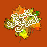 Back to School Supplies Sketchy Doodles with Swirls- Hand-Drawn. Royalty Free Stock Image