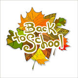 Back to School Supplies Sketchy Doodles with Swirls- Hand-Drawn. Stock Images