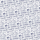 Back to School Supplies Sketchy pattern Background Stock Images