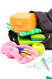 Back to school supplies studio Royalty Free Stock Image