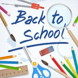 Back to school supplies tools  background Stock Photography