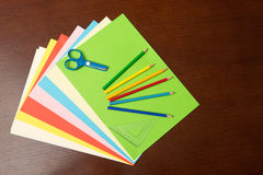Back to School Supplies Top View Royalty Free Stock Image