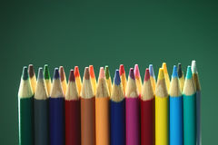 Back to School Suppplies Colored Pencils Stock Photos