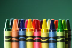 Back to School Suppplies Crayons Stock Photo