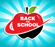 Back to School Swoosh Apple Icon royalty free illustration
