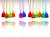 Back to school tags royalty free stock photo