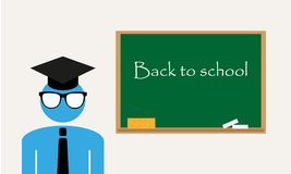 Back to school teacher  background Royalty Free Stock Photos