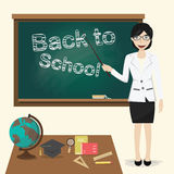 Back to school, Teacher vector illustration Stock Photography
