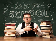 Back to school teacher Royalty Free Stock Image