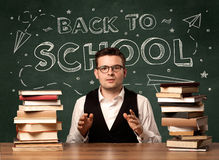 Back to school teacher Stock Photography