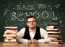 Back to school teacher Royalty Free Stock Photos