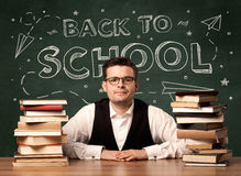Back to school teacher Royalty Free Stock Photo
