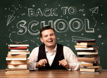 Back to school teacher Royalty Free Stock Images