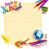 Back to School Template stock illustration
