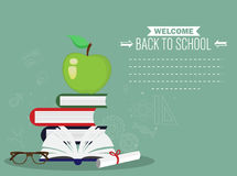 Back to School template banner background. Vector EPS 10 Royalty Free Stock Photos