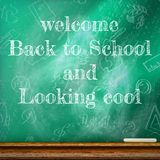 Back to school template design. plus EPS10 Royalty Free Stock Images