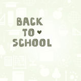 Back To School Template Royalty Free Stock Photos