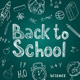 Back to school template Stock Photography